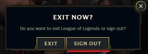 how to log out of league of legends sign out lol