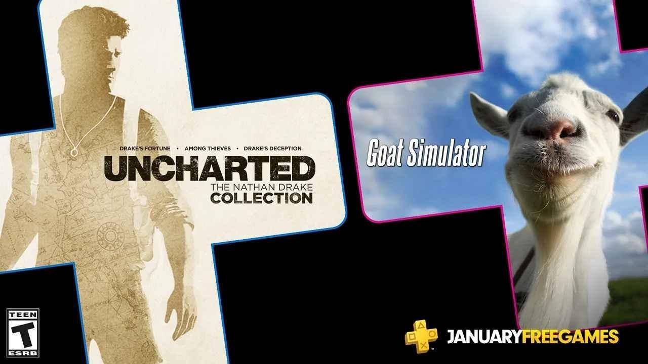PlayStation January's Free PS Plus Games: Uncharted - The Nathan Drake Collection & Goat Simulator