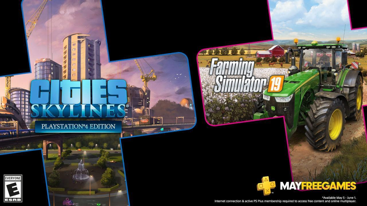 PlayStation May's Free PS Plus Games: Cities Skylines & Farming Simulator 19