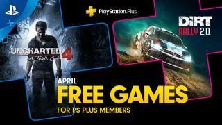 PlayStation April's Free PS Plus Games: Uncharted 4 - A Thief's End & Dirt Rally 2.0