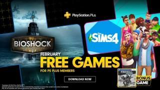 PlayStation February's Free PS Plus Games: Bioshock - The Collection, The Sims 4 & Firewall Zero Hour