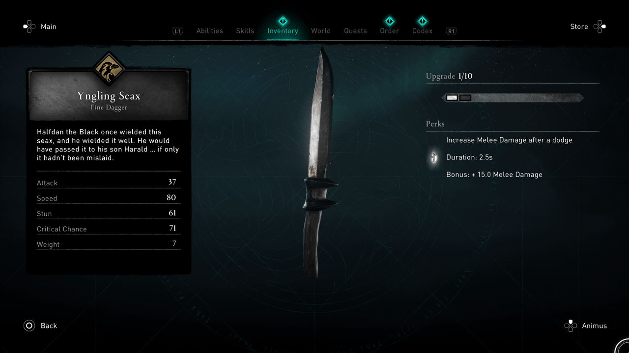 How to find the amazing Yngling Seax on Assassin's Creed Valhalla: Weapon Guide