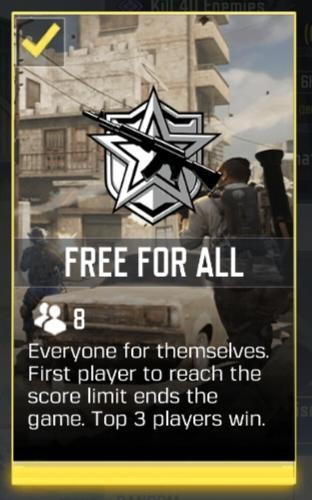 call of duty mobile free for all