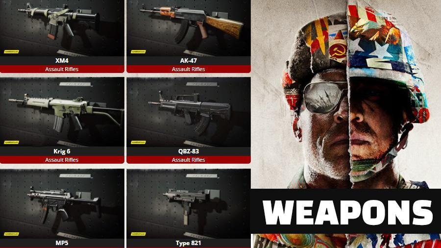 COD Black Ops: Cold War Weapons update
