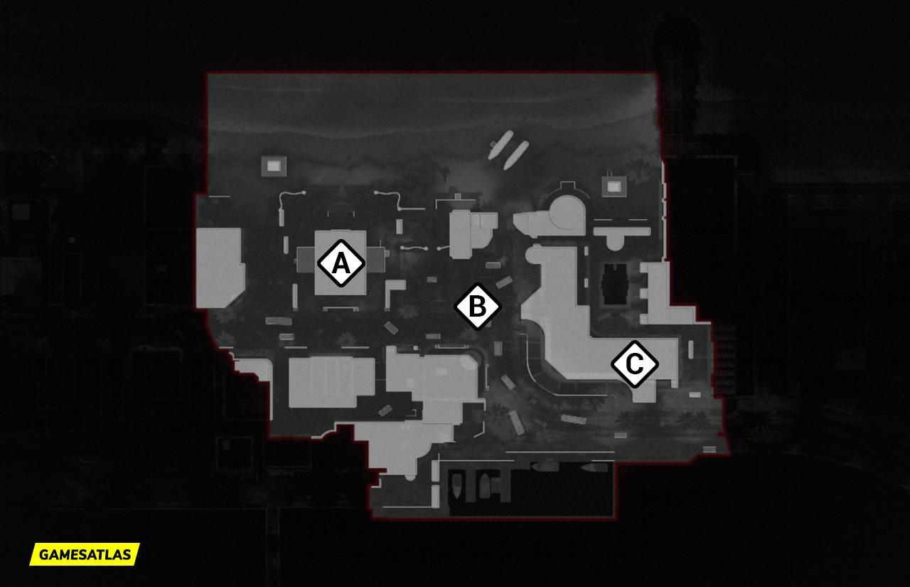 Miami COD Cold War Map Domination Flags