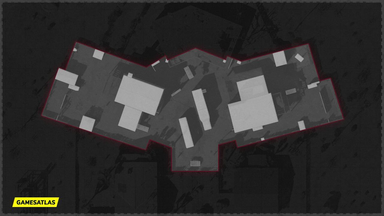 Nuketown 84 COD Cold War Mini Map Layout