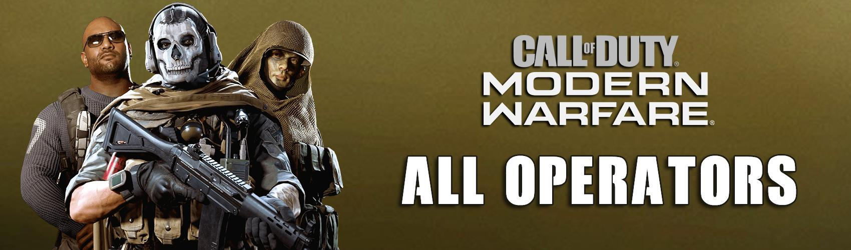 All Operators in Call of Duty: Modern Warfare