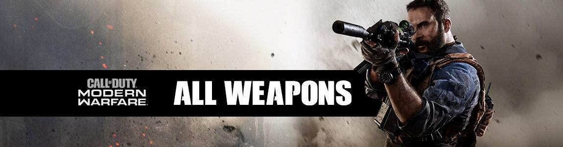 Call of Duty: Modern Warfare Weapons List with Blueprints