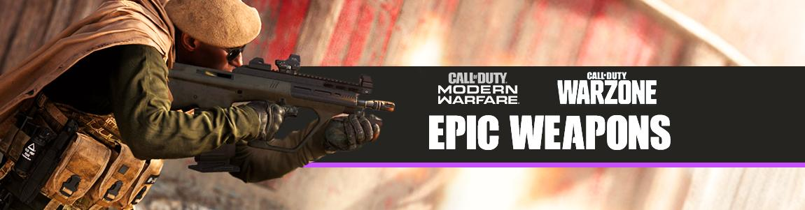 call of duty warzone best epic weapons