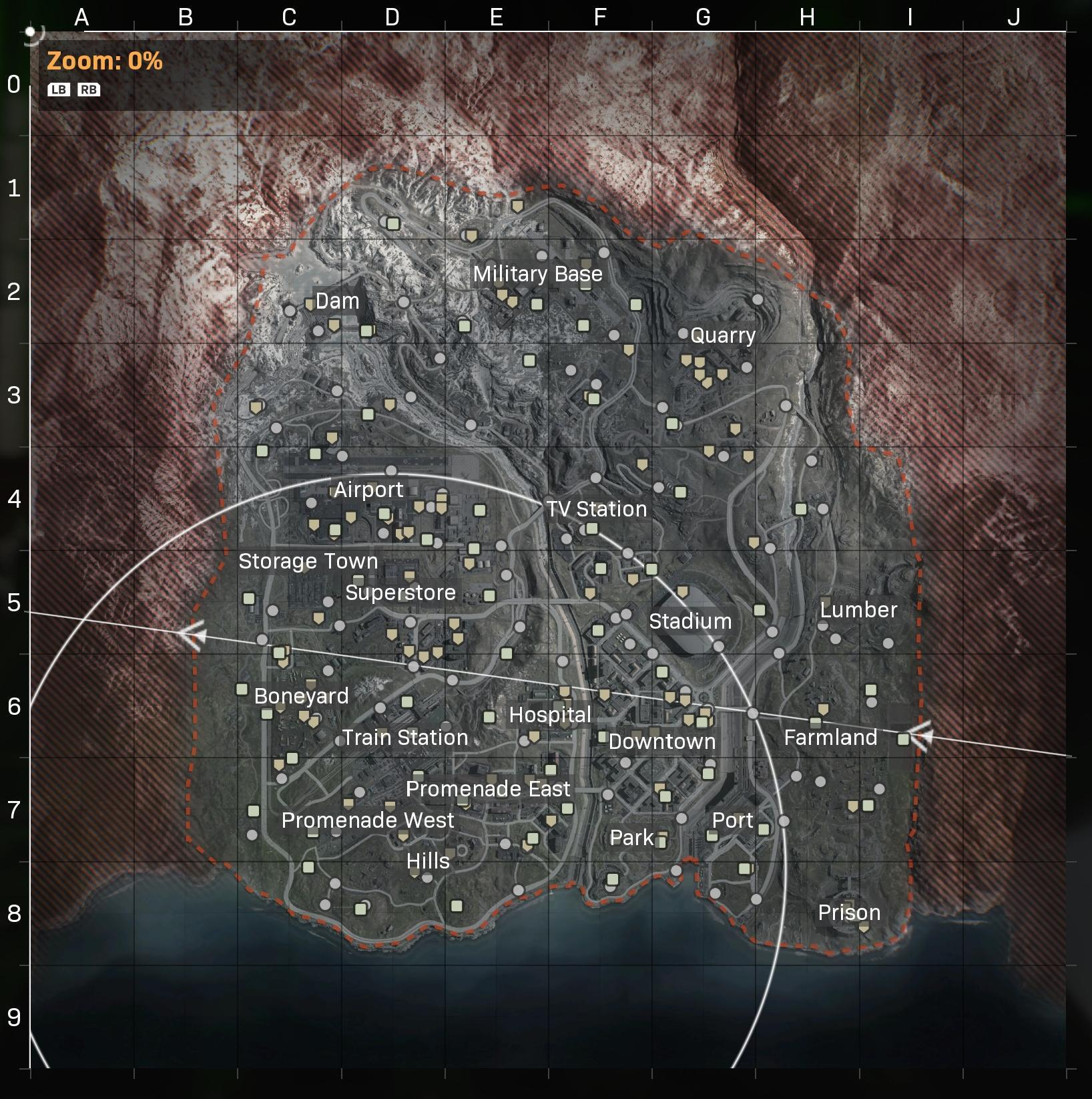 call of duty warzone map cod battle royale in game