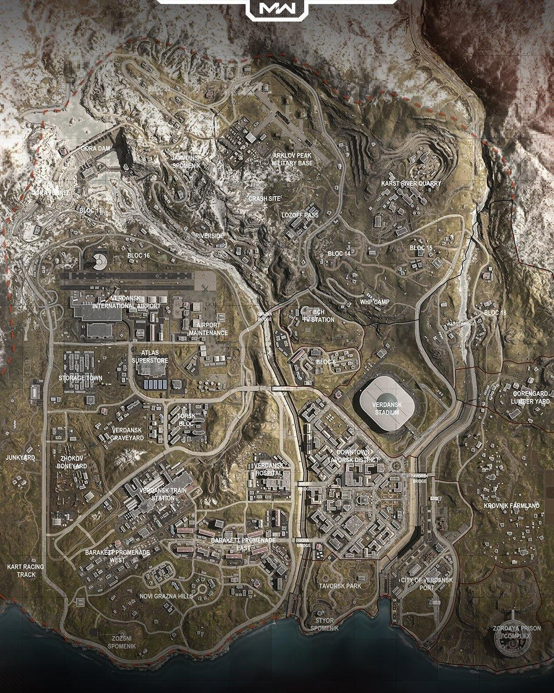 Call Of Duty Warzone Map All Cod Battle Royale Map Locations