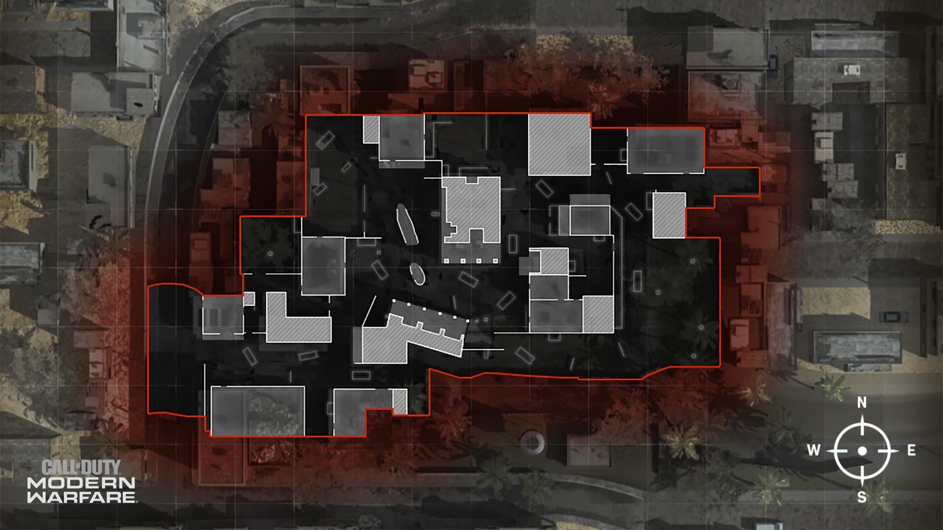 COD ModernWarfare Crash Mini Map Layout
