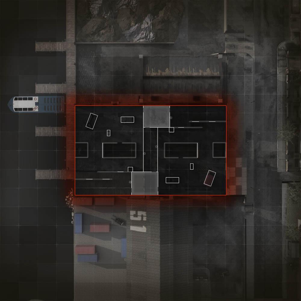 COD ModernWarfare Docks Mini Map Layout