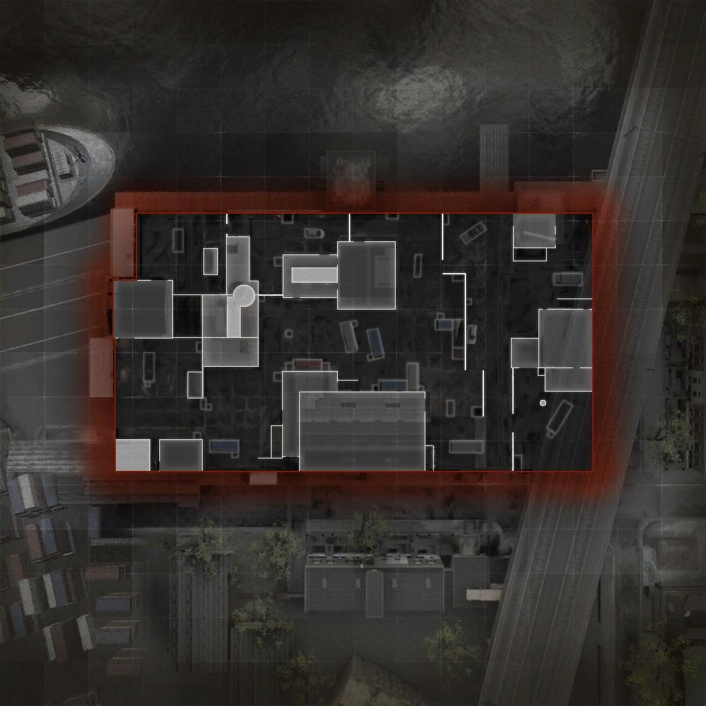 COD ModernWarfare HackneyYard Mini Map Layout