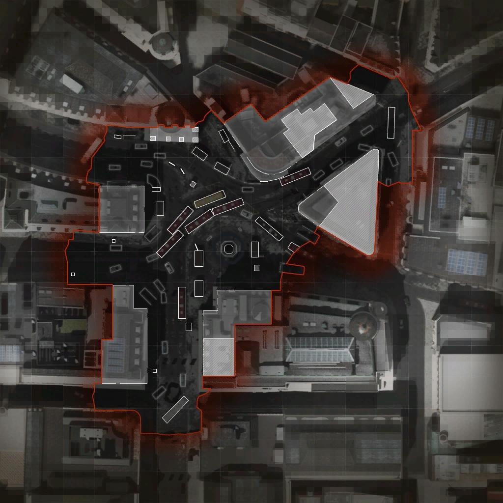 COD ModernWarfare Piccadilly Mini Map Layout