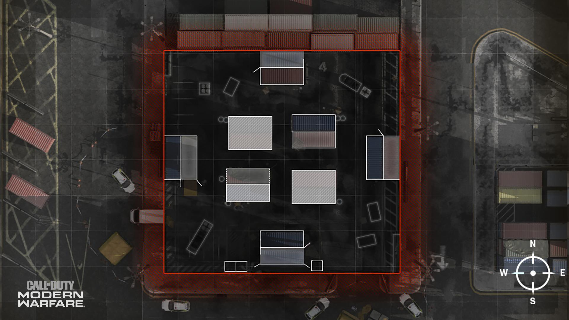 COD ModernWarfare Shipment Mini Map Layout