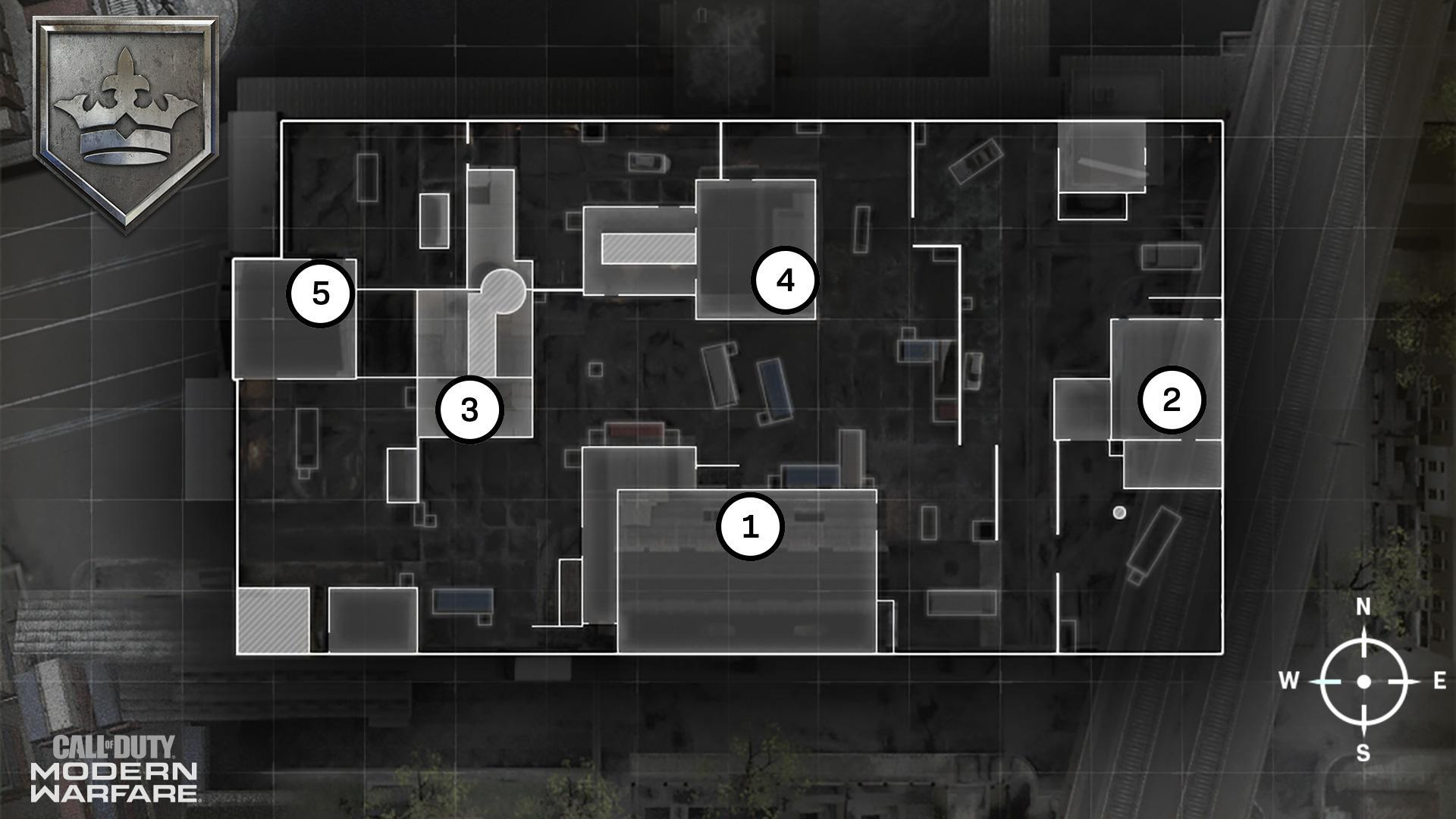 HackneyYard Map Headquarters Hardpoint Rotations