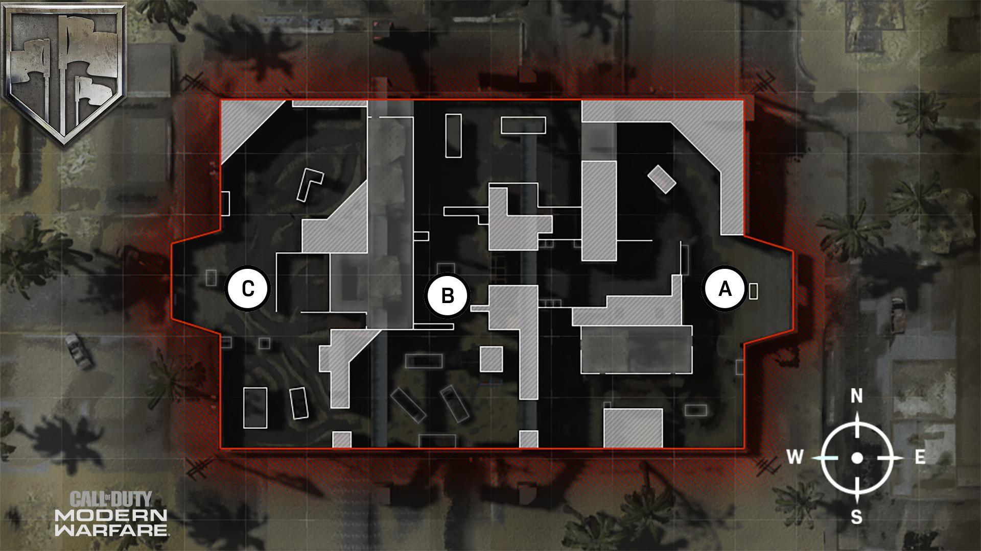 ShootHouse Map Domination Flags