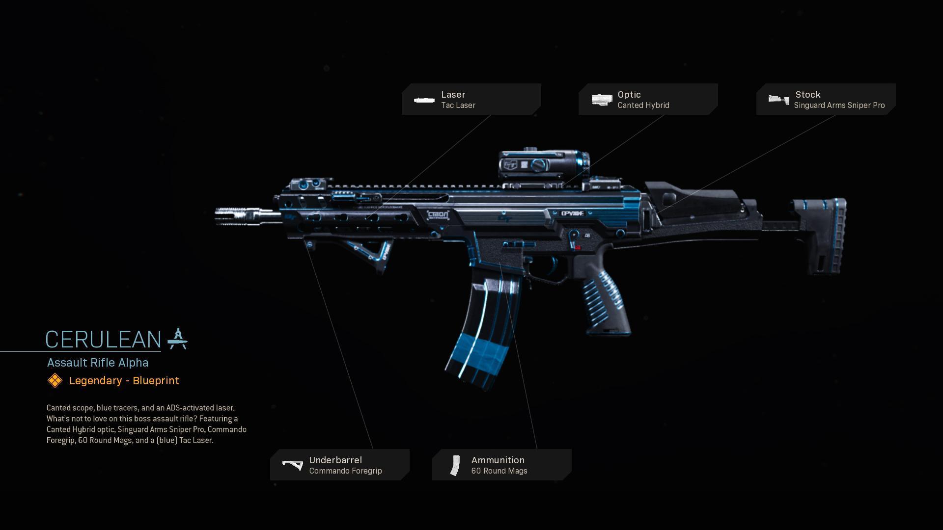 Cerulean   COD Warzone   Modern Warfare   Weapon Blueprint   Call of Duty