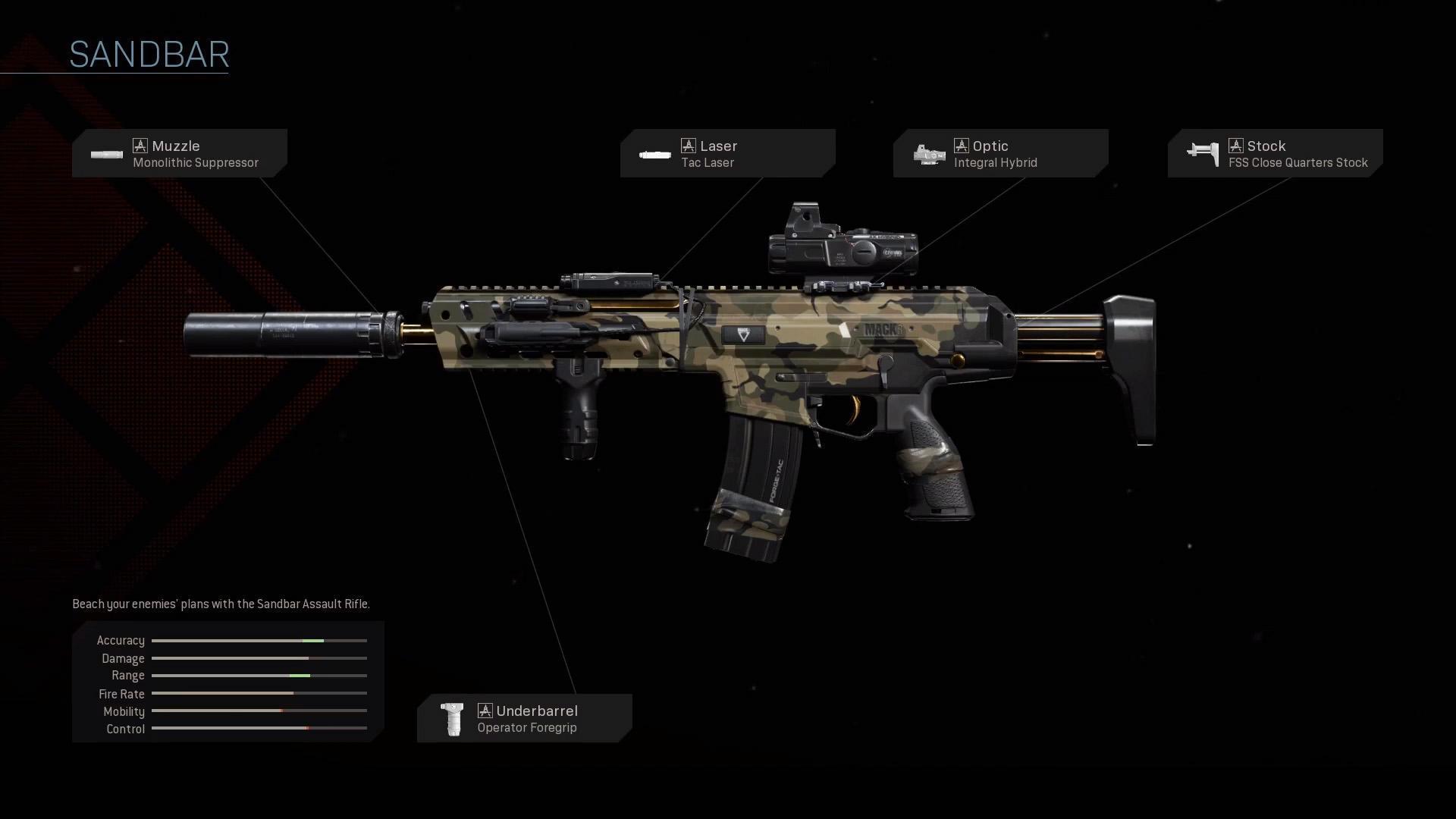 Sandbar - COD Warzone Legendary Weapon Blueprint - COD ...