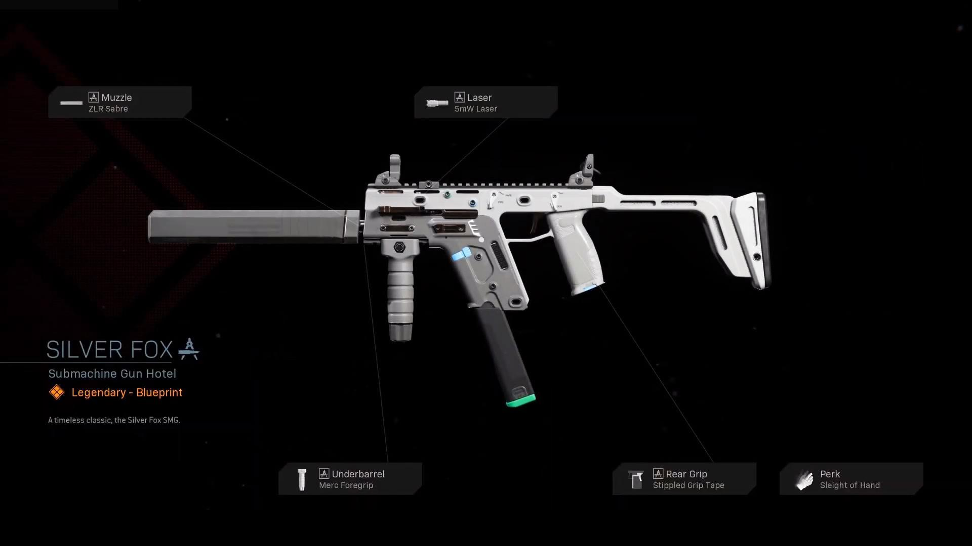 Silver Fox Cod Warzone Weapons Legendary Blueprint Call Of