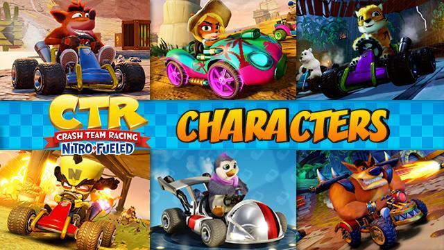 All Characters & Stats - Crash Team Racing Nitro-Fueled