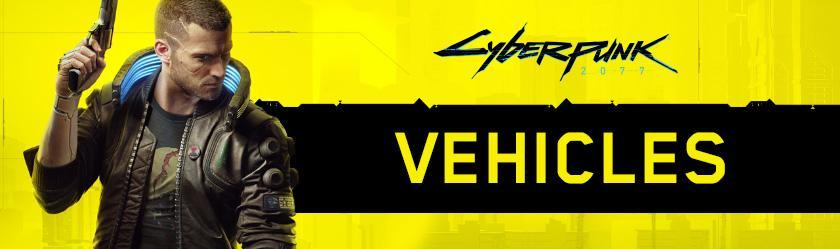 Cyberpunk 2077 Vehicles Database
