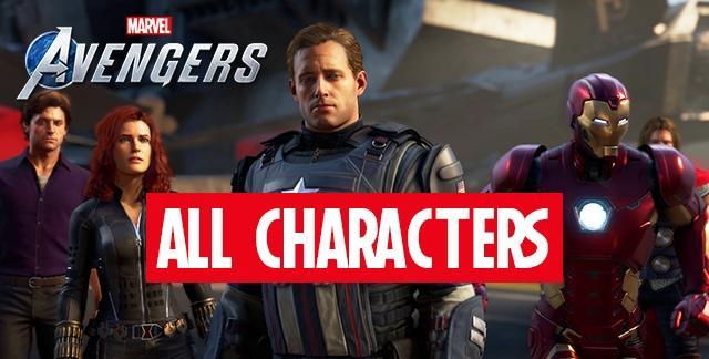 marvels avengers game all characters heroes
