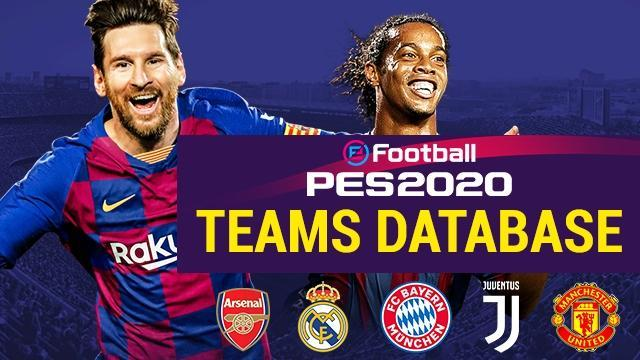 PES 2020 Teams Database